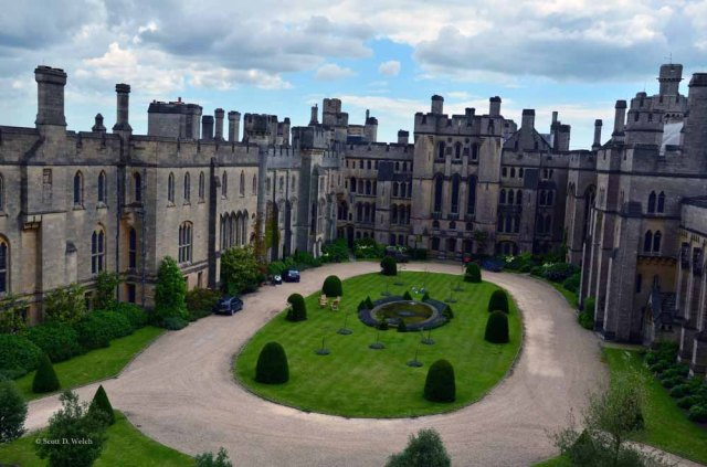 Arundel Castle Courtyard - West Sussex, England