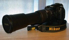Nikon D80 DSLR - Sigma AF 170-500mm APO