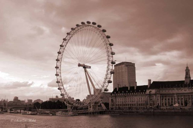 London Eye Ferris Wheel aka Millennium Wheel