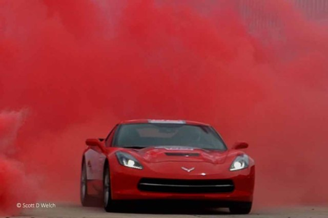 Red Corvette Red Smoke