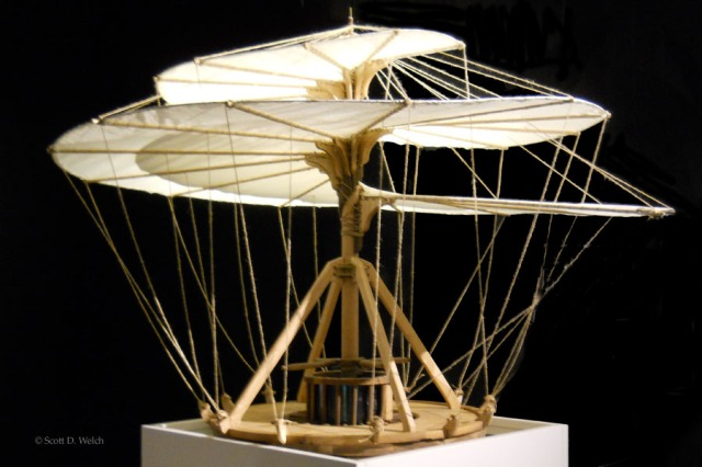 Flying Helicoidal Structure - Da Vinci