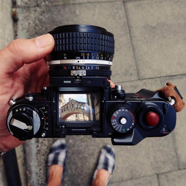 Nikon F3 - Hawkesmill England - Oxford leather strap