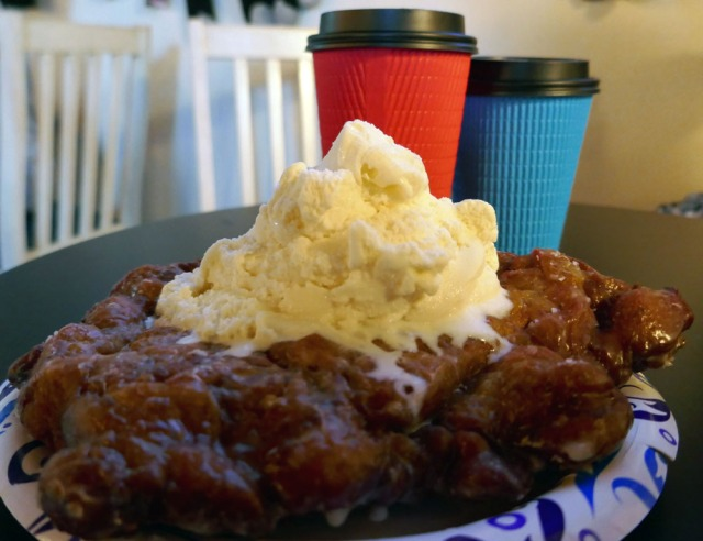 Apple Fritter - Vanilla Ice Cream - Latte
